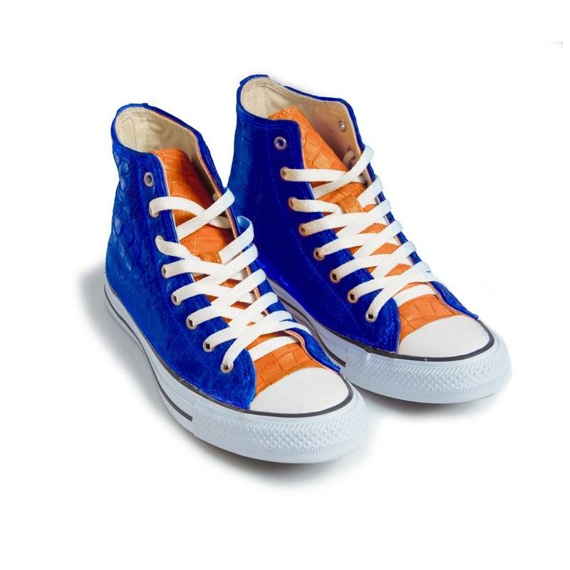 Wild Alligator Converse® Blue \u0026 Orange